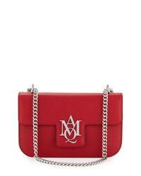 Alexander McQueen - Red Insignia Small Chain Satchel Bag - Lyst