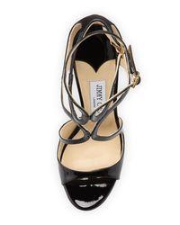 Jimmy Choo Black Lance Sandals