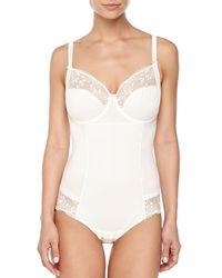 Chantelle - White Pont Neuf Mesh-inset Bodysuit - Lyst