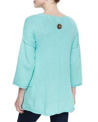 Pure Handknit - Green Sunrise Double-knit Tunic W/ Jersey Pockets - Lyst