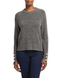 3.1 Phillip Lim Gray Crew Neck Pullover Sweater