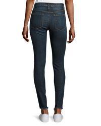 FRAME Blue Le Skinny De Jeanne Raw-edge Jeans