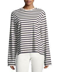 Joseph Blue Striped Long-sleeve Breton T-shirt
