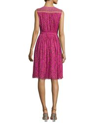Diane von Furstenberg - Pink Bali Sleeveless Shalamar Trellis Silk Wrap Dress - Lyst