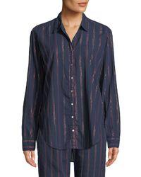 Xirena - Blue Beau Beckett Striped Lounge Shirt - Lyst