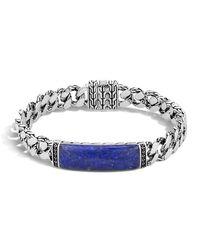 John Hardy Blue Gourmette Classic Chain Men's Bracelet With Lapis for men