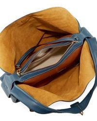 COACH - Blue Glove-tanned Pebbled Leather Hobo Bag - Lyst