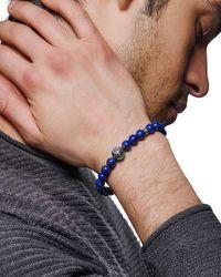 John Hardy Blue Men's Classic Chain Bead Bracelet W/ Lapis for men