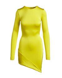Cushnie et Ochs - Yellow Lola Asymmetrical Mini Dress - Lyst