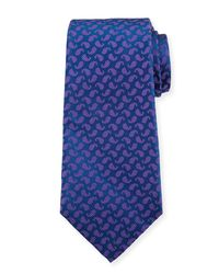 Kiton - Blue Dotted Pines Neat Tie for Men - Lyst
