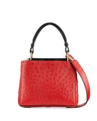 VBH - Red Seven 20 Ostrich Top Handle Bag - Lyst