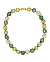 Majorica | Metallic Multi-pearl Necklace | Lyst