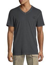 G-Star RAW Black Doax Cotton T-shirt for men