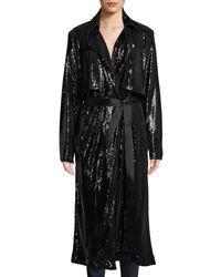 RTA Black Karina Belted Sequined Jacket
