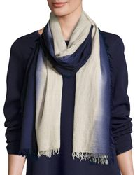 Eileen Fisher - Blue Silk Cashmere Ombre Scarf - Lyst