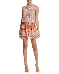 Ramy Brook - Orange Mackinley Sleeveless Floral-print Silk Dress - Lyst