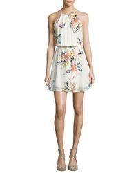 Joie - Multicolor Makana Silk Floral Mini Dress - Lyst
