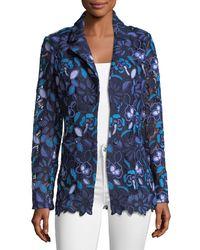 Berek - Blue Provence Floral Lace Jacket - Lyst