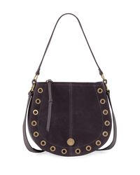 See By Chloé Black Kriss Small Grommet Hobo Bag