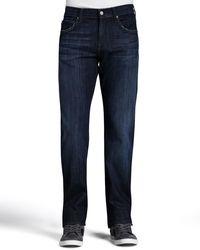 7 For All Mankind Blue Men's Austyn Los Angeles Dark Jeans for men