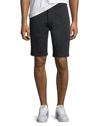 7 For All Mankind Black Men's Stretch Chino Shorts for men