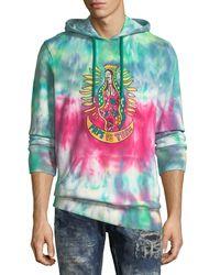 PRPS Multicolor Tie-dye Graphic Hoodie for men