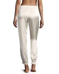 Morgan Lane - Multicolor Camille Stardust Silk Lounge Pants - Lyst