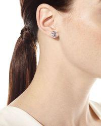 Stephen Dweck Pink Amethyst Freeform Stud Earrings