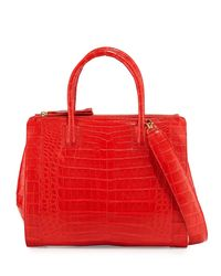 Nancy Gonzalez - Red Crocodile Large Double-zip Tote Bag - Lyst