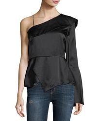 Parker | Purple Cache One-sleeve Silk Blouse | Lyst