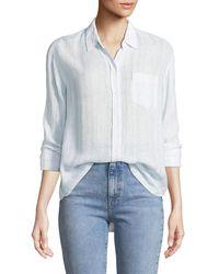 Rails Blue Charli Monterey Stripe Shirt