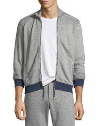 Orlebar Brown - Gray Kirke Contrast-trim Zip-front Jacket for Men - Lyst