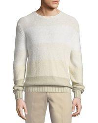 Loro Piana - Natural Degrade Striped Sweater for Men - Lyst