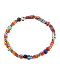 John Hardy - Multicolor Classic Chain Silver Bracelet With Borneo Beads - Lyst
