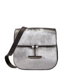 Tom Ford - Metallic Tara Laminated Calf Hair Shoulder Bag - Lyst