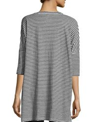 Eileen Fisher - Multicolor Striped Organic Linen Jersey V-neck Tunic - Lyst