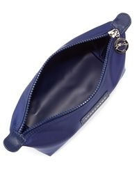 Longchamp Blue Le Pliage Neo Small Cosmetic Case