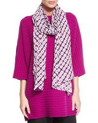 Eskandar - Purple Hand-dyed Shibori Silk Scarf - Lyst