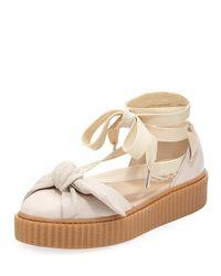 PUMA - Multicolor Bow Ankle-wrap Sneaker-style Sandal - Lyst