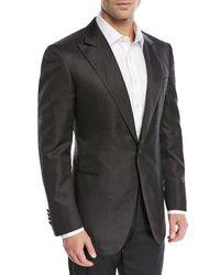 Stefano Ricci Black Tonal Jacquard Silk Dinner Jacket for men