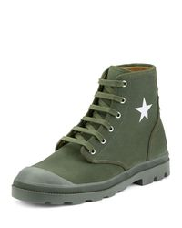 Givenchy - Black Olympus Canvas Combat Boot for Men - Lyst