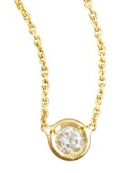 Roberto Coin | Metallic Station Diamond Necklace | Lyst