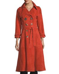 Rejina Pyo Orange Kirsten Double-breasted Suede Trench Coat