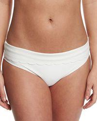 Heidi Klein - White Ostuni Scalloped Fold-over Swim Bottom - Lyst