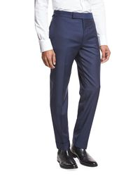 Tom Ford Blue O'connor Base Solid Trousers for men