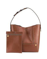 Stella McCartney - Brown Faux-leather Bucket Bag - Lyst