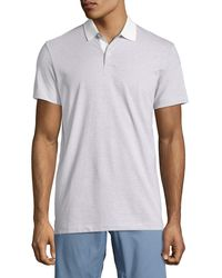 Theory - Blue Sandhurst Dotted-stripe Polo Shirt for Men - Lyst