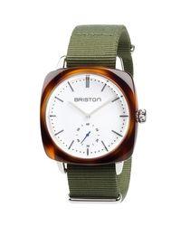 Briston - Brown Clubmaster Vintage Chronograph Watch - Lyst