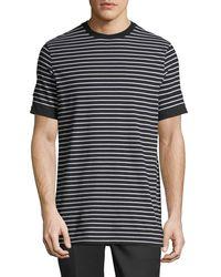 Neil Barrett Black Breton Striped Roll-cuff T-shirt for men