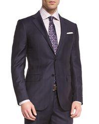 Ermenegildo Zegna Blue Tonal Plaid Two-piece Suit for men